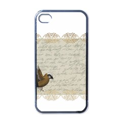 Tag Bird Apple Iphone 4 Case (black) by vintage2030