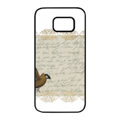 Tag Bird Samsung Galaxy S7 Edge Black Seamless Case by vintage2030