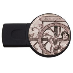 Lottery Usb Flash Drive Round (4 Gb) by vintage2030