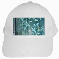Green Tree White Cap by vintage2030