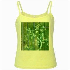 Green Tree Yellow Spaghetti Tank by vintage2030
