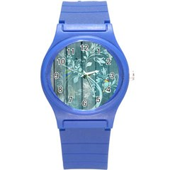 Green Tree Round Plastic Sport Watch (s) by vintage2030
