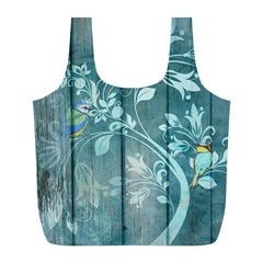 Green Tree Full Print Recycle Bag (l) by vintage2030