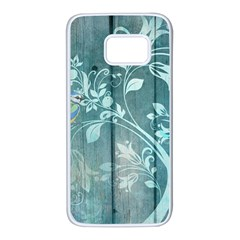Green Tree Samsung Galaxy S7 White Seamless Case by vintage2030