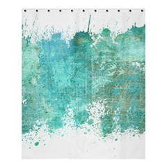 Splash Teal Shower Curtain 60  X 72  (medium)  by vintage2030