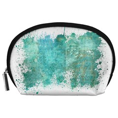 Splash Teal Accessory Pouch (large) by vintage2030