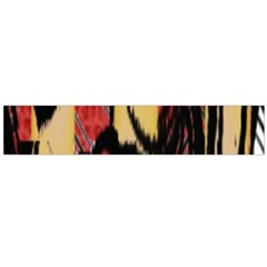 Red Black And Gold Decorative Design By Flipstylez Designs  Large Flano Scarf
