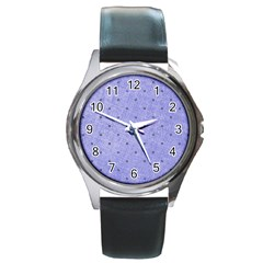 Dot Blue Round Metal Watch by vintage2030