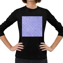 Dot Blue Women s Long Sleeve Dark T Shirt by vintage2030