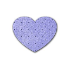 Dot Blue Heart Coaster (4 Pack)  by vintage2030