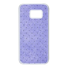 Dot Blue Samsung Galaxy S7 White Seamless Case by vintage2030