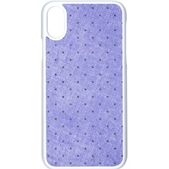 Dot Blue Apple Iphone X Seamless Case (white) by vintage2030