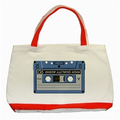 Cassette 40268 1280 Classic Tote Bag (red) by vintage2030