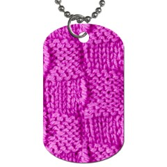 Knitted Wool Square Green Dog Tag (one Side) by vintage2030