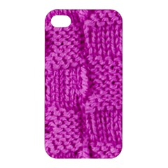 Knitted Wool Square Green Apple Iphone 4/4s Hardshell Case by vintage2030