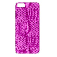 Knitted Wool Square Green Apple Iphone 5 Seamless Case (white) by vintage2030