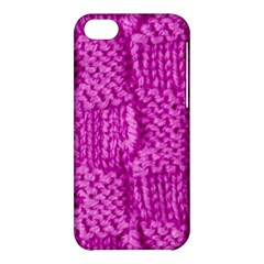 Knitted Wool Square Green Apple Iphone 5c Hardshell Case by vintage2030