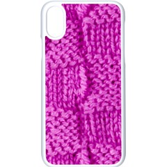 Knitted Wool Square Green Apple Iphone X Seamless Case (white) by vintage2030