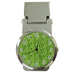 Knitted Wool Chain Green Money Clip Watches by vintage2030