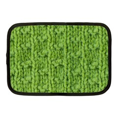 Knitted Wool Chain Green Netbook Case (medium) by vintage2030