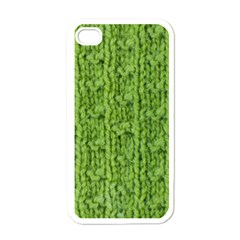 Knitted Wool Chain Green Apple Iphone 4 Case (white) by vintage2030