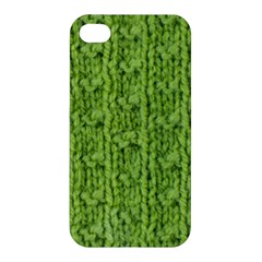 Knitted Wool Chain Green Apple Iphone 4/4s Premium Hardshell Case by vintage2030