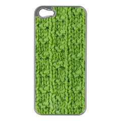 Knitted Wool Chain Green Apple Iphone 5 Case (silver) by vintage2030