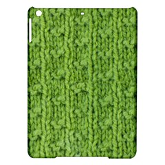 Knitted Wool Chain Green Ipad Air Hardshell Cases by vintage2030