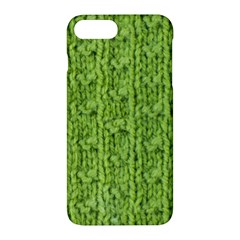 Knitted Wool Chain Green Apple Iphone 7 Plus Hardshell Case by vintage2030