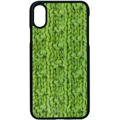 Knitted Wool Chain Green Apple Iphone X Seamless Case (black) by vintage2030