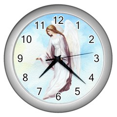 Background 1660365 1920 Wall Clock (silver) by vintage2030
