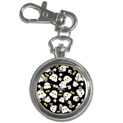 Cute Kawaii Popcorn Pattern Key Chain Watches by Valentinaart