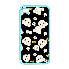 Cute Kawaii Popcorn Pattern Apple Iphone 4 Case (color) by Valentinaart