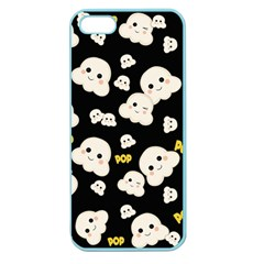 Cute Kawaii Popcorn Pattern Apple Seamless Iphone 5 Case (color) by Valentinaart
