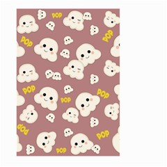 Cute Kawaii Popcorn Pattern Large Garden Flag (two Sides)