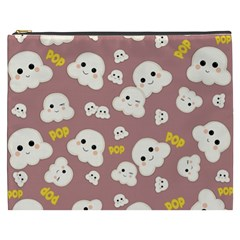 Cute Kawaii Popcorn Pattern Cosmetic Bag (xxxl)