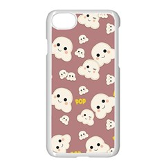 Cute Kawaii Popcorn Pattern Apple Iphone 8 Seamless Case (white) by Valentinaart