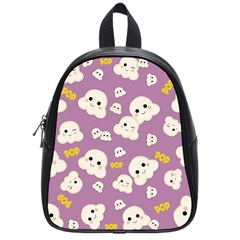 Cute Kawaii Popcorn Pattern School Bag (small) by Valentinaart