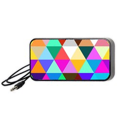 Triangles Pattern                                                   Portable Speaker by LalyLauraFLM