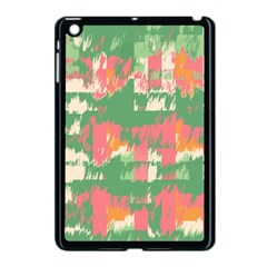 Pink Scratches On A Green Background                                                Apple Ipad Mini Hardshell Case by LalyLauraFLM