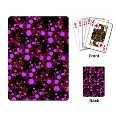 Purple Red  Roses Playing Cards Single Design by snowwhitegirl