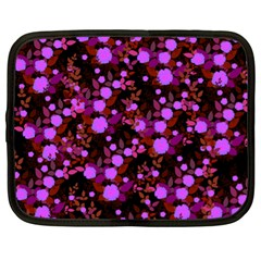 Purple Red  Roses Netbook Case (xl) by snowwhitegirl