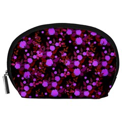 Purple Red  Roses Accessory Pouch (large) by snowwhitegirl