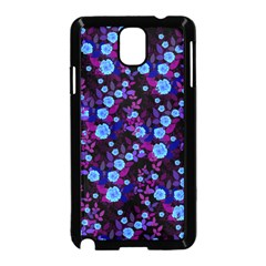 Purple Blue  Roses Samsung Galaxy Note 3 Neo Hardshell Case (black)