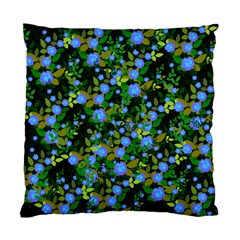 Blue Luminescent Roses Standard Cushion Case (two Sides)