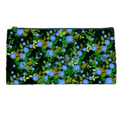 Blue Luminescent Roses Pencil Cases