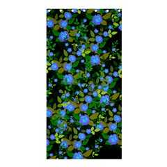 Blue Luminescent Roses Shower Curtain 36  X 72  (stall)  by snowwhitegirl