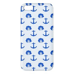 Vintage Face Anchor Blue Apple Iphone 5 Premium Hardshell Case by snowwhitegirl