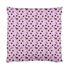 Pink Deer Pattern Standard Cushion Case (two Sides)
