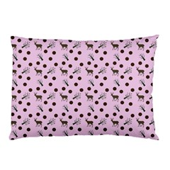 Pink Deer Pattern Pillow Case by snowwhitegirl